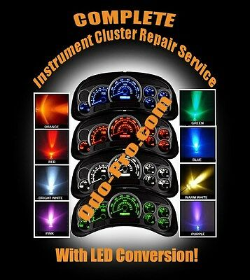 CHEVY TAHOE Speedometer Instrument Cluster Backlight COLOR LED UPGRADE & REPAIR