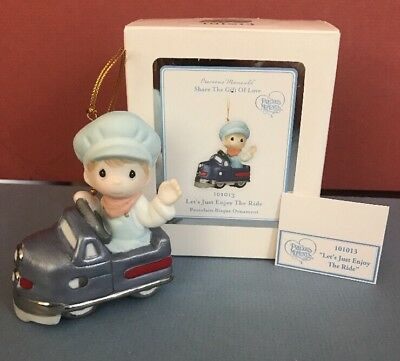 Precious Moments Christmas Ornament -Let's Just Enjoy The Ride-NIB Store Display