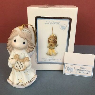 Precious Moments Christmas Ornament -HIS Light Brings Joy To Our Life- NIB