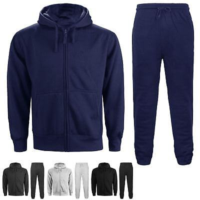 Mens Hooded Tracksuit Jogging Sweat Shirts Fitness Gym Bottoms Hoodies Trouser