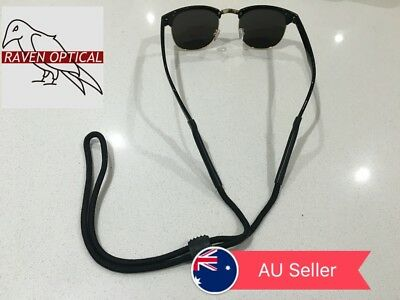 Black Sports Comfortable Nylon Adjustable Neck Strap Cord For Spectacle Glasses