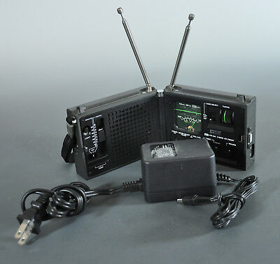 Sony ICF - 7800W The Newscaster Radio Clamshell Case - Adapter - Works!