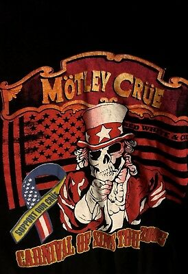Motley Crue Carnival Of Sins T Shirt: Delta Pro Wright X Large: Colorful!