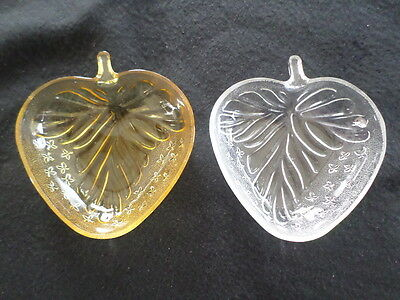 Pretty Vintage Pair Of  Strawberry Shaped Relish Dish Or Trinket Dish