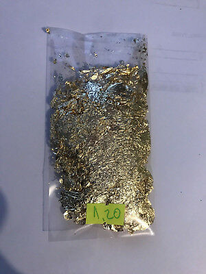1.20 Grams Of Gold Leaf/Flakes .999