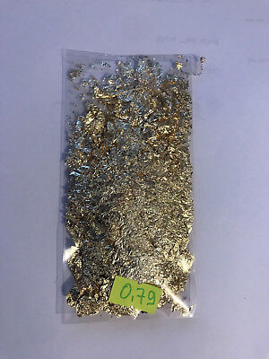 0.79.Grams Of Gold Leaf/Flakes .999