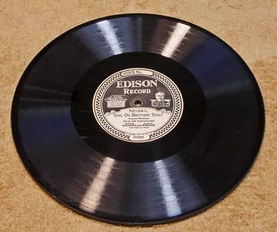 """Dalhart & Robison Edison Diamond Disc Record 52134 """"Sing On Brother, Sing!"""""""