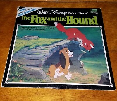 Walt Disney The Fox and the Hound Vinyl LP Record and 12 Page Book 3823