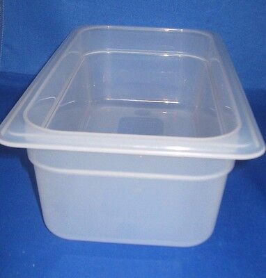 Cambro Plastic Prep Food Table Insert 1/3 X 4 Inch Pan Dishwasher Safe, New