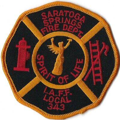 Saratoga Springs New York Fire Department Iaff Local 343 Patch