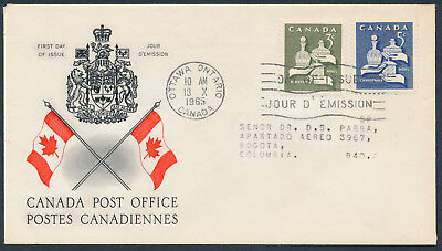 1965 #443-444 Christmas - Gifts FDC, CPO Presentation Cachet, Letter to Columbia