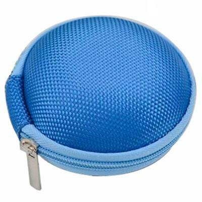Colorful Portable Mini Round Hard Storage Case Bag for Earphone Headset SD TF