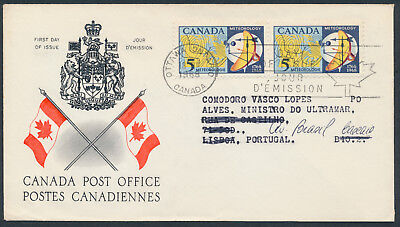 1968 #479 Meteorology FDC, CPO Presentation Cachet and Letter, to Portugal
