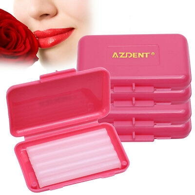 5-200X AZDENT Dental Orthodontics Ortho Wax for Relief Braces Red -Rose Flavor