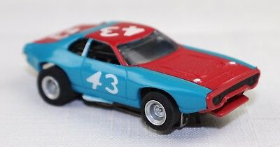 AFX #1762 Plymouth Roadrunner Petty #43 HO Slot Car - Color Red/Blue