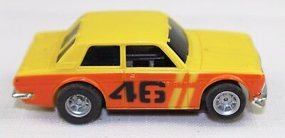AFX DATSUN 510 YELLOW HO Slot Car - NO RESERVE AUCTION - SEE MY OTHER CARS TOO