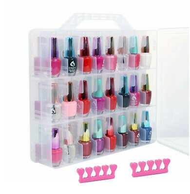 Makeup Nail Polish Holder Organizer Container Case Storage 48 Bottles Carry Case