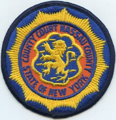old vintage NASSAU COUNTY NEW YORK NY COUNTY COURT sheriff police PATCH