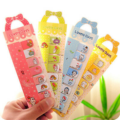 Cute Animals Sticker Bookmark Marker Memo Flags Index Tab Sticky Note QL