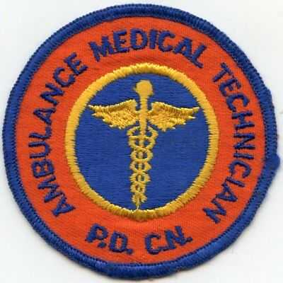 old vintage NASSAU COUNTY NEW YORK NY AMBULANCE MEDICAL TECHNICIAN POLICE PATCH