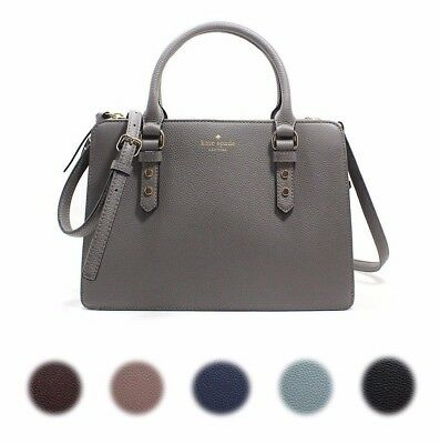 New Kate Spade New York Lise Mulberry Street Satchel Crossbody Pebble Leather