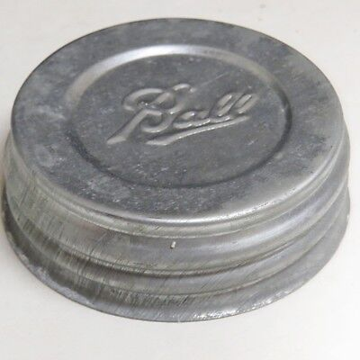Vintage Ball Mason Jar Zinc Lid  #13 New Old Stock