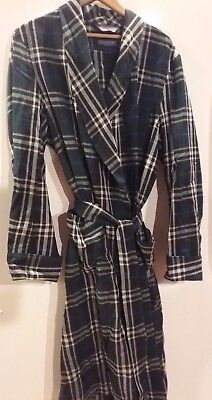 Mens Sir PENDLETON worsted wool U,S.A made mens large green blue white plaid