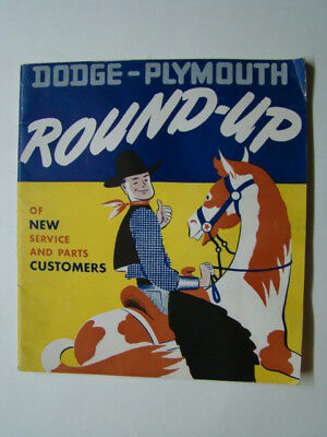 Dodge Plymouth Round-Up Dealer Employees Merchandise Catalog Radios & Toys 1948