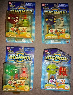 Mixed lot of 4 Ban Dai's Digital Digimon Monsters action figures