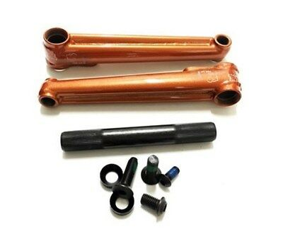 Macneil Bikes Conjoined BMX Cranks -  Burnt Orange 3 Piece Bike Cranks