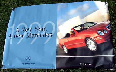 Vintage 1999 Mercedes Benz GIANT 6 foot Dealer Promo Poster CLK Convertible RARE