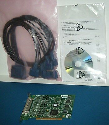 NI PCI-8431/8 Kit RS485 RS422, Cable, v14.0 Serial, National Instruments *Tested