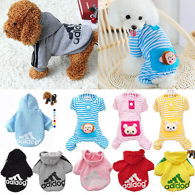 Casual Jackets Puppy Warm Coat Winter Cat Apparel Hoodie Pet Clothes Dog Soft