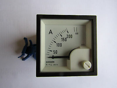 Analogue Panel Ammeter 500A AC, 45mm x 45mm Moving Iron Ammeter O2 202445