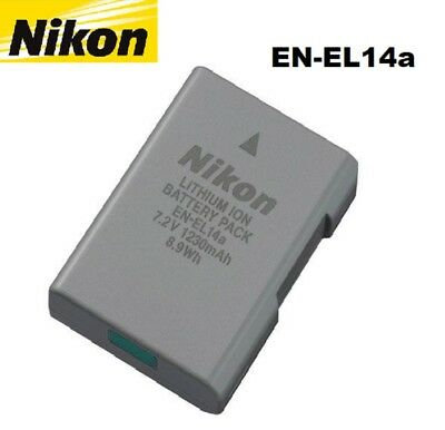 New Genuine Original OEM Nikon 1230mAh 8.9Wh High Capacity EN-EL14a Battery