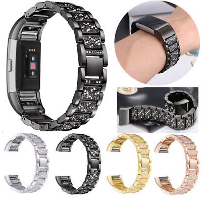 Luxury Bling Replacement Wrist Watch Band Strap Watchband For Fitbit Charge 2