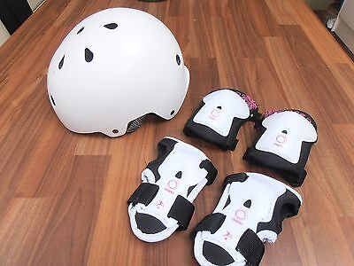 White Helmet, Knee Pads and Elbow Pads