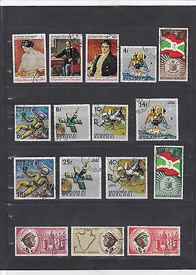 BUR423 Burundi Stamps - Mixed Condition - Good Collection