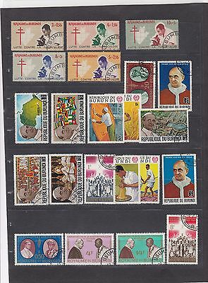 BUR421 Burundi Stamps - Mixed Condition - Good Collection