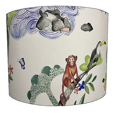 Lampshades Ideal To Match Jungle Friends Quilts & Jungle Friends Wall Decals.