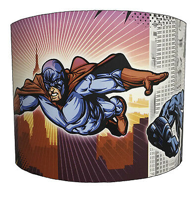 Lampshade Ideal To Match Superheroes Wallpaper Border & Superheroes Quilt Covers
