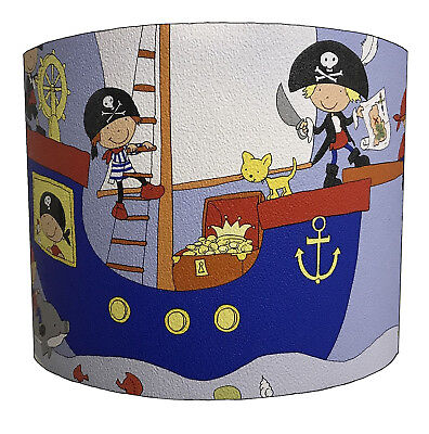 Kids Pirates Lampshades, Ideal To Match Pirates Wallpaper & Pirates Quilt Covers