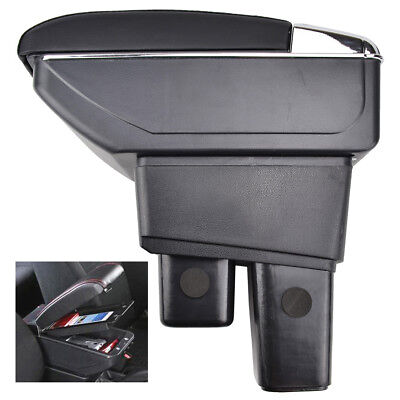 Armrest For 2009-2013 Honda Fit Jazz Center Console Storage Box Tray Leather