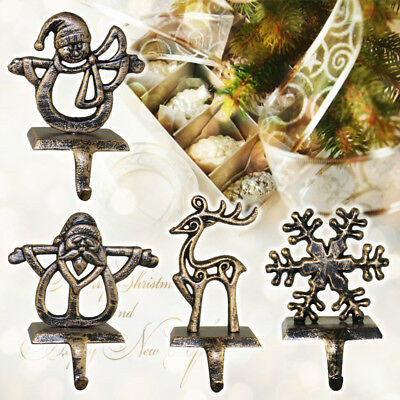 Christmas Stocking Hooks Hanger Holder Fireplace Mantel Clip Decorations Vintage