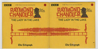 RAYMOND CHANDLER: The Lady in the Lake — Telegraph Audio Book, 2 promotional CDs