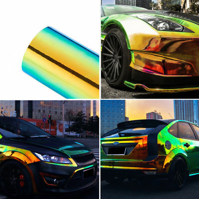 Metallic Glossy Chameleon Vinyl Film Car Wrap Colorful Color Change