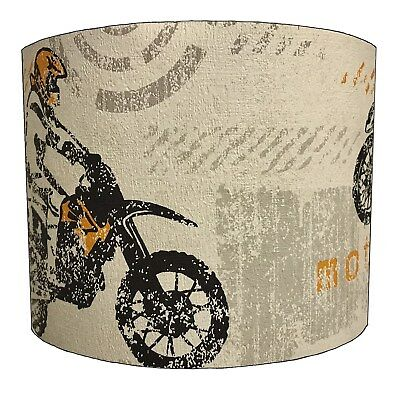 Motocross Lampshades, Ideal To Match Dirt Bikes Duvets Scrambler Bikes Wallpaper