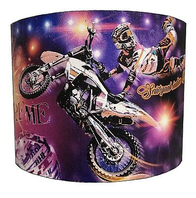 Dirt Bikes Lampshades, Ideal To Match Motocross Duvets & Scrambler Wall Decals.