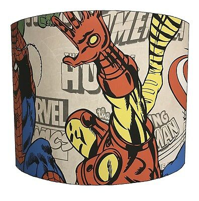 Lampshades Ideal To Match Super Heroes Duvets & Super Heroes Wallpaper Borders.
