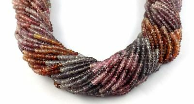 """1 Strands Multi Color Spinel Micro Faceted Rondelle Gemstone 3-3.5mm 12"""" Long"""